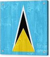 Saint Lucia Flag Acrylic Print