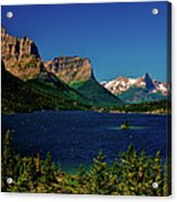 Saint Mary Lake And Wild Goose Island Acrylic Print