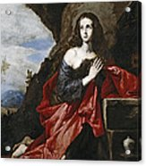 Saint Mary Magdalene In The Desert Acrylic Print