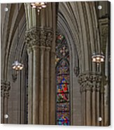 Saint Patrick's Cathedral Stained Glass Window Acrylic Print