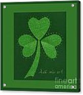 Saint Patricks Day Collage Number 13 Acrylic Print