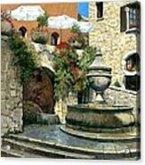 Saint Paul De Vence Fountain Acrylic Print