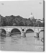 Saint Peter's Basilica Dome At Distance Acrylic Print