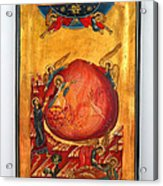 Saint Prophet Elias Hand Painted Russian Byzantine Icon  Acrylic Print