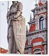 Saint Roland I Riga Old Town Acrylic Print