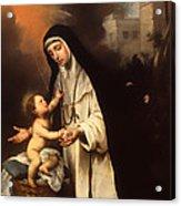 Saint Rose Of Lima Acrylic Print