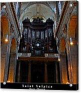 Saint Sulpice Acrylic Print