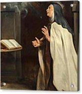 Saint Teresa Of Avila's Vision Of The Holy Spirit Acrylic Print