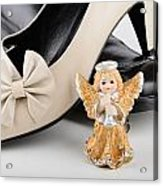 Saint Valentine Angel With Two Shoes Acrylic Print