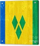 Saint Vincent And The Grenadines Flag Acrylic Print