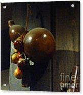 Sake Gourd Bottles From Japan On Corner Acrylic Print
