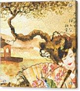 Sakura Acrylic Print by Mo T