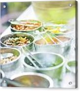 Salad Bowls With Mixed Fresh Vegetables Acrylic Print
