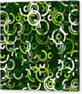 Salad Geometric Circle Segment Pattern Acrylic Print