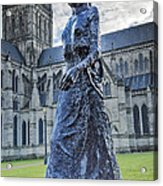 Salisbury Cathedral And The Walking Madonna 2 Acrylic Print