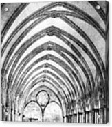 Salisbury Cathedral Cloisters Acrylic Print