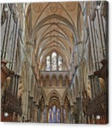Salisbury Cathedral Quire And High Altar Acrylic Print