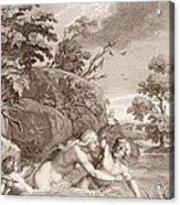Salmacis And Hemaphroditus United In One Body Acrylic Print