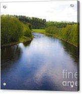 Salmon Catchers Club - Bjora River Norway. Doctor Andrzej Goszcz. Acrylic Print by  Andrzej Goszcz