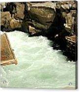 Salmon Fishing Platforms Acrylic Print by Mamie Gunning