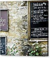 Salon De The - French Menu Signs Acrylic Print