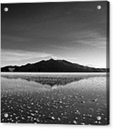 Salt Cloud Reflection Black And White Acrylic Print
