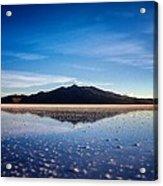 Salt Cloud Reflection Framed Acrylic Print