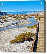 Salt Creek Trail Boardwalk In Death Valley National Park-california  Acrylic Print