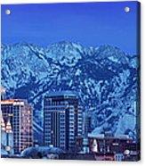 Salt Lake City Skyline Acrylic Print by Brian Jannsen