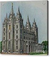 Salt Lake City Temple I Acrylic Print