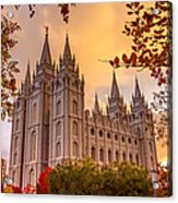 Salt Lake City Temple Acrylic Print