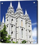 Salt Lake Mormon Temple Acrylic Print