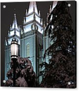 Salt Lake Temple In The Snow Acrylic Print