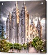 Salt Lake Temple Acrylic Print by Niels Nielsen