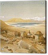 Salt Lake - Thibet, From India Ancient Acrylic Print