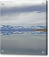 Salt Lake Winter Acrylic Print