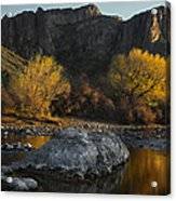 Salt River Fall Foliage Acrylic Print by Dave Dilli