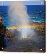 Salt Spray Rainbow Acrylic Print