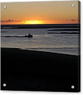 Salty Sunrise Acrylic Print