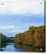Saluda River In The Fall Acrylic Print