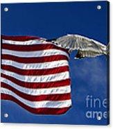 Salute The Flag Acrylic Print by Tim Wilson