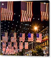 Salute To Old Glory Acrylic Print by Teri Virbickis