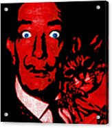 Salvador Dali And Friend 20130212v2 Acrylic Print by Wingsdomain Art and Photography