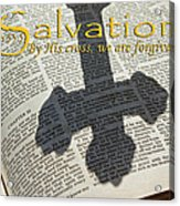 Salvation By His Cross Isaiah Acrylic Print by Robyn Stacey