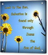 Salvation In The Son Acrylic Print