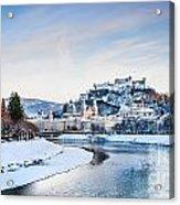 Salzburg Winter Fairy Tale Acrylic Print
