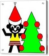 Sam And His Christmas Tree Wish You A Merry Christmas Acrylic Print