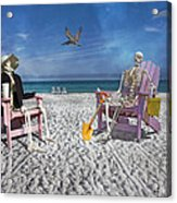 Sam And His Friend Visit Long Boat Key Acrylic Print