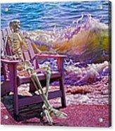 A-loon On The Beach  Acrylic Print