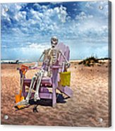Sam Discovers Bald Head Island Acrylic Print